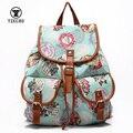 Hot 4 Cores 2016 New Arrival moda Estilo Nacional ocasional double-ombro saco de viagem mochila para mochilas escolares mulheres para meninas