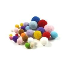 100pcs 8mm Mixing Color Small Pompom Balls Furball Woolen Felt Clothing Toy Accessory DIY Homemade Craft