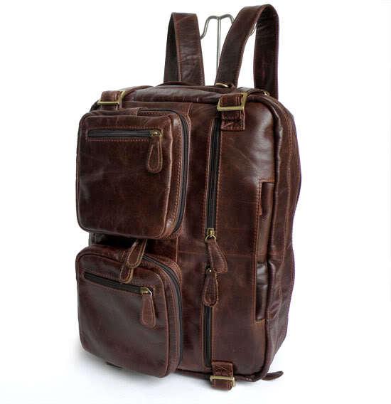 Nesitu Haute Qualité 100% Garantie Réel Véritable en cuir Hommes Sacs À Dos de Sac de Voyage D'affaires Portefeuille # M7026