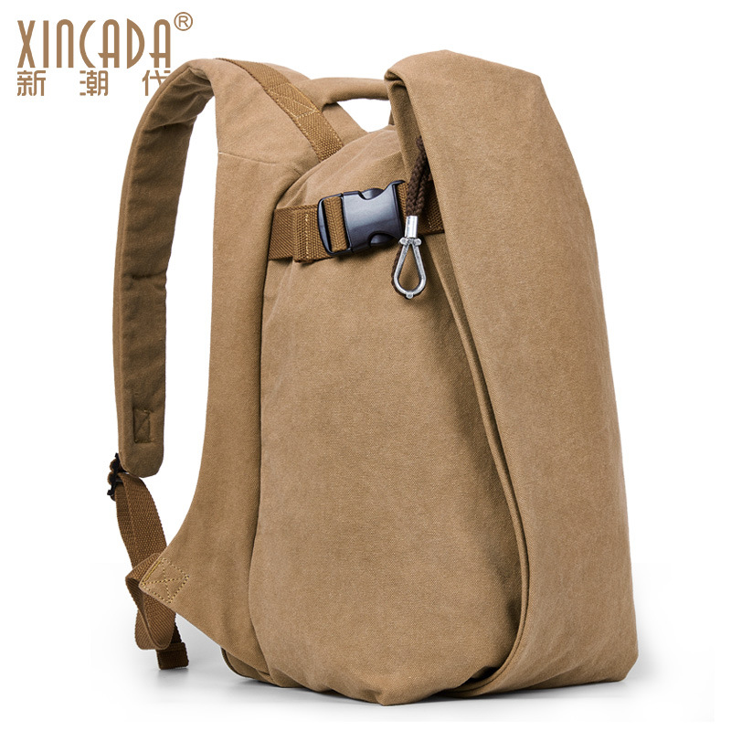 M080 Men Canvas Anti-theft College Student School Backpack Bags for Teenagers Vintage Mochila Casual Rucksack Travel Daypack 15 high quality fashion rock band backpack for teenage women men casual daypack college student preppy school backpack travel bags