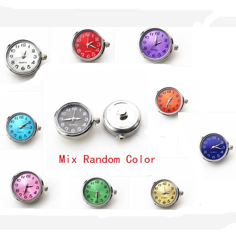 Новинка 6 шт/лот Разноцветные часы с кнопками застежками для