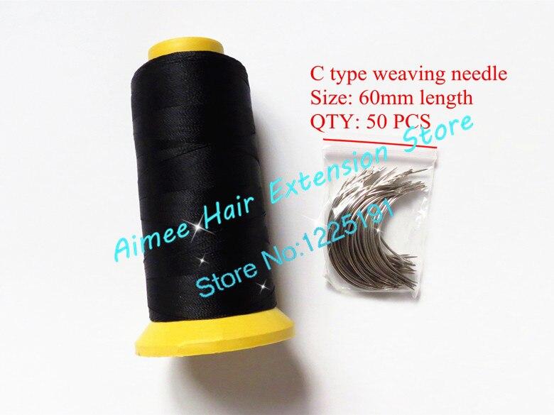 C Weaving Needles 60mm Long Shape Needles 50pcs1 Black Nylon High