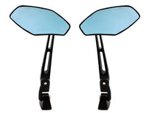 BLACK BILLET ALUMINUM REAR VIEW BLUE SIDE CONVEX MIRRORS for Yamaha YZF R1 R6