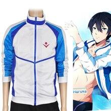 Anime Cosplay  Free! Iwatobi Swim Club Nanase Haruka Costumes Shirt coat European size Free Shipping
