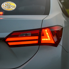 цена на Car Styling for Toyota Corolla Tail Lights 2014 New Corolla LED Tail Light Altis Rear Lamp DRL+Brake+Park+Signal
