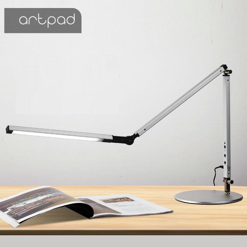 ประหยัดพลังงาน LED โคมไฟตั้งโต๊ะ CLAMP Dimmer Swing แขนยาวธุรกิจสำนักงานศึกษา Desktop สำหรับตารางโคมไฟ
