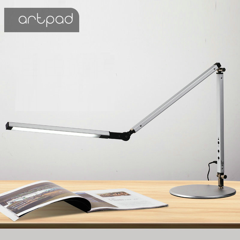 Энергосберегающий современный светодиодный Настольный светильник с зажимом и диммером, подвесной светильник с длинными ручками для офиса, офиса, учебы, настольный светильник для настольного светильника