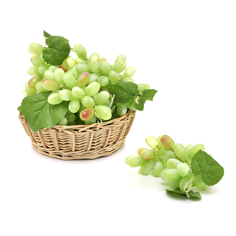 Simulation PU Fruits Grapes Squisy Kitchen Children Toys Kids Pretend Play Gags Toys Home Wedding Party Garden Decor 36 Grain