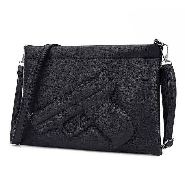 07dba37fc0 Fashion Women Shoulder Crossbody Bag 3d Gun Handbags Clutch Pu Leather  Pistol Bags Ladies Messenger Bag