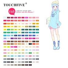 TOUCHFIVE 168 цветов одиночные художественные маркеры Кисть ручка эскиз на спиртовой основе маркеры двойная головка манга ручки для рисования товары для рукоделия