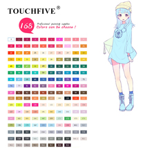 TOUCHFIVE 168 Colors Single Art Markers Brush Pen Sketch Alcohol Based Markers Dual Head Manga Drawing Pens Art Supplies