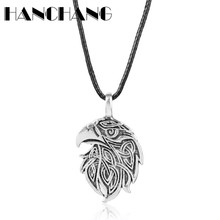 Norse Viking Jewelry Pendants&Necklaces Knots Crow Necklace Leather Cord Chain Colar Neck Lace Men Women Accessories