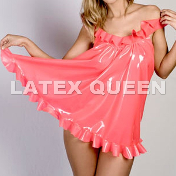 Women's Clothing Dependable Women Sweet Latex Dress Sale Overall Discount 50-70%