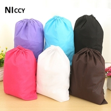 1pc 30*40cm Storage Bag For Shoe/Clothing/Socks Foldable Travel Bags Sundries Makeup Organizer Non-woven Fabric Wardrobe Pouch