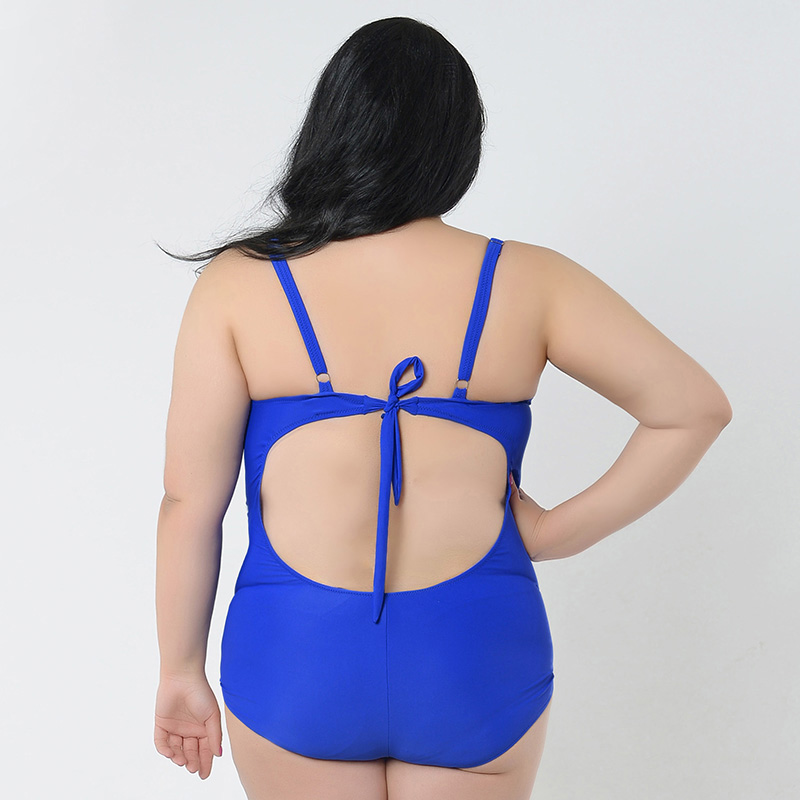 66d129cc8b YOUDIAN 2017 Large Size Swimsuit Code Feipo backless one piece increase fat  high elastic fat floral swimsuit models swimwear-in Body Suits from Sports  ...