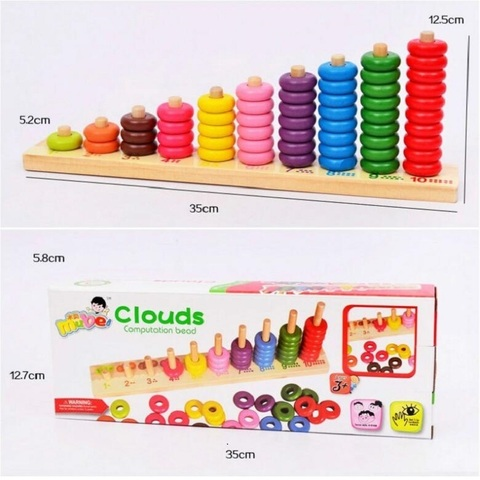 brinquedo de madeira montessori matematica oyuncak presente para as criancas 35136 cm