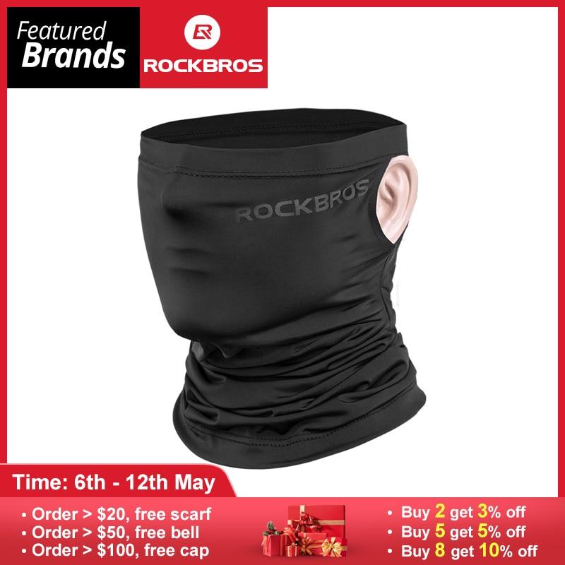 ROCKBROS Summer Cycling Bike Bicycle Headwear Anti-sweat Breathable Cap Running Bicycle Bandana Sports Scarf Face Mask Equipment