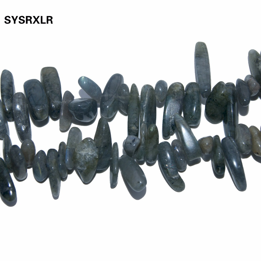 Free Shipping 12 18 MM Stick Shape Natural Gray Spectrolite Stone Labradorite Beads For Jewelry Making DIY Necklace Strand 15 39 39 in Beads from Jewelry amp Accessories