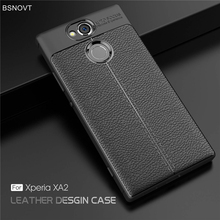 For Sony Xperia XA2 Case Soft Shockproof Luxury Leather Anti-knock Cover 5.2 BSNOVT