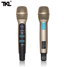 TKL MIC100 Wireless car Karaoke microphone FM Bluetooth Condenser Microphonemicrophone Compatible Iphone Computer