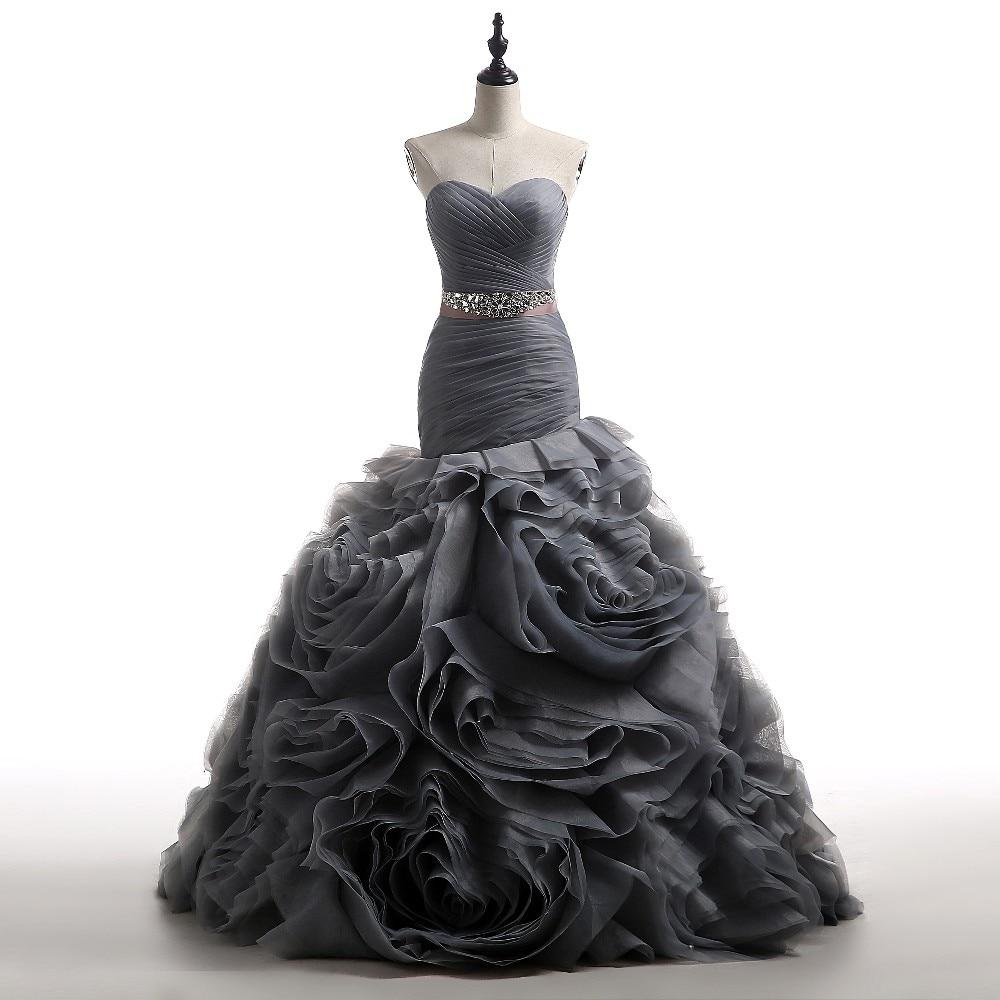 Popular grey wedding dresses buy cheap grey wedding for Charcoal dresses for weddings