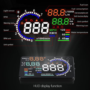Image 2 - Hot Selling A8 5.5 inch HUD OBD2 Head Up Display For Car Digital Speedometer Windshield Projector Overspeed Alarm