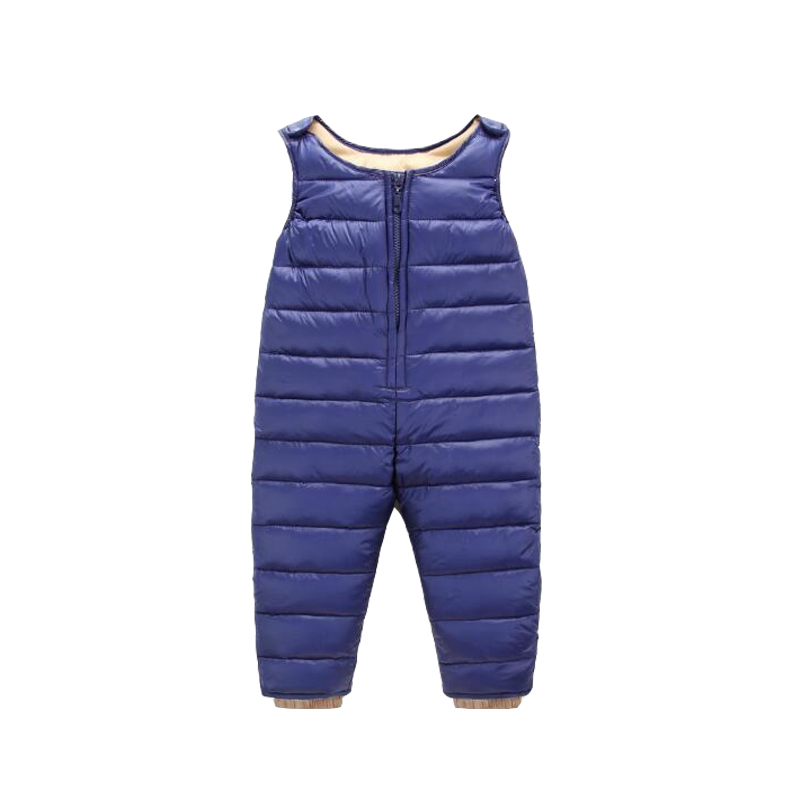 2018 Baby Girls Duck Down Trousers Boys Winter Pants Children Sweatpants Overalls Kids Clothing Slim Warm Strap Infant Trousers hot sale 2016 winter children kids duck down bib pants overalls toddler baby boys girls thick warm trousers clothes tn168