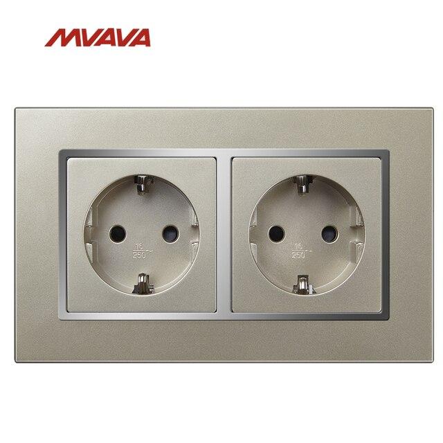 MVAVA Double 16A Schuko EU/DU Standard Receptacle Dual AC 250V ...