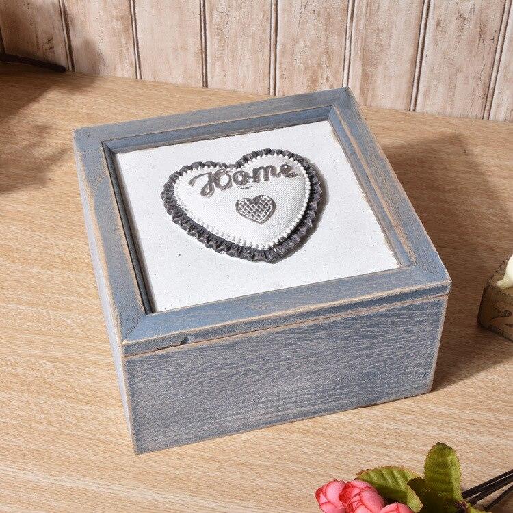 1 шт. творческий ретро деревянные хранения домашней обстановки ювелирных maekup коробка Украшения Винтаж Изделия из дерева контейнер enu 009