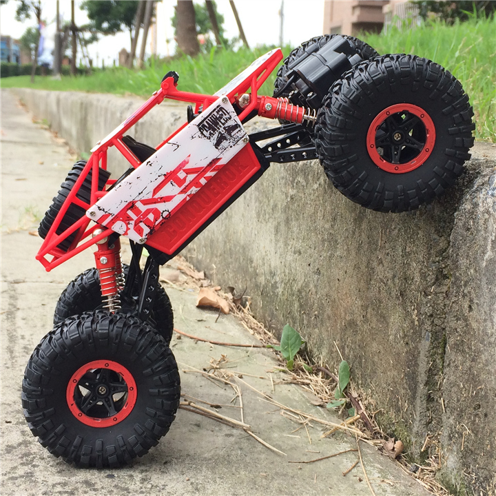 2.4G Remote Control Off-road vehicle Automobile Cross-country 4WD Climb Car Charge Motor-driven BOYS Toy Children Drift Rac
