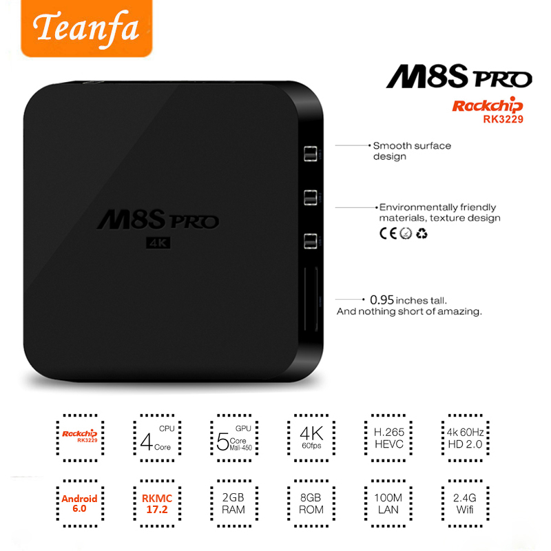 Android Smart TV Box 2G RAM 8G ROM DDR4 RK3229 Quad Core ARM Set Top Box 2.4GHz 5.0GHz WiFi 4K Full HD Set Top Box Media Player