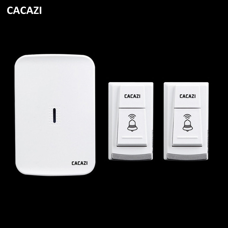 Wireless home electronic elderly DC battery pager move freely waterproof doorbell 2 transmitter+1 receivers wireless door bell 9809 2 ringtones ac 110 240v 280m remote control 1 transmitter 2 receivers waterproof button elderly pager wireless doorbell
