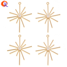 Design cordial 50 pces 30*41mm jóias acessórios/brincos jóias fazendo/forma de satr/liga de zinco/feito à mão/brinco descobertas