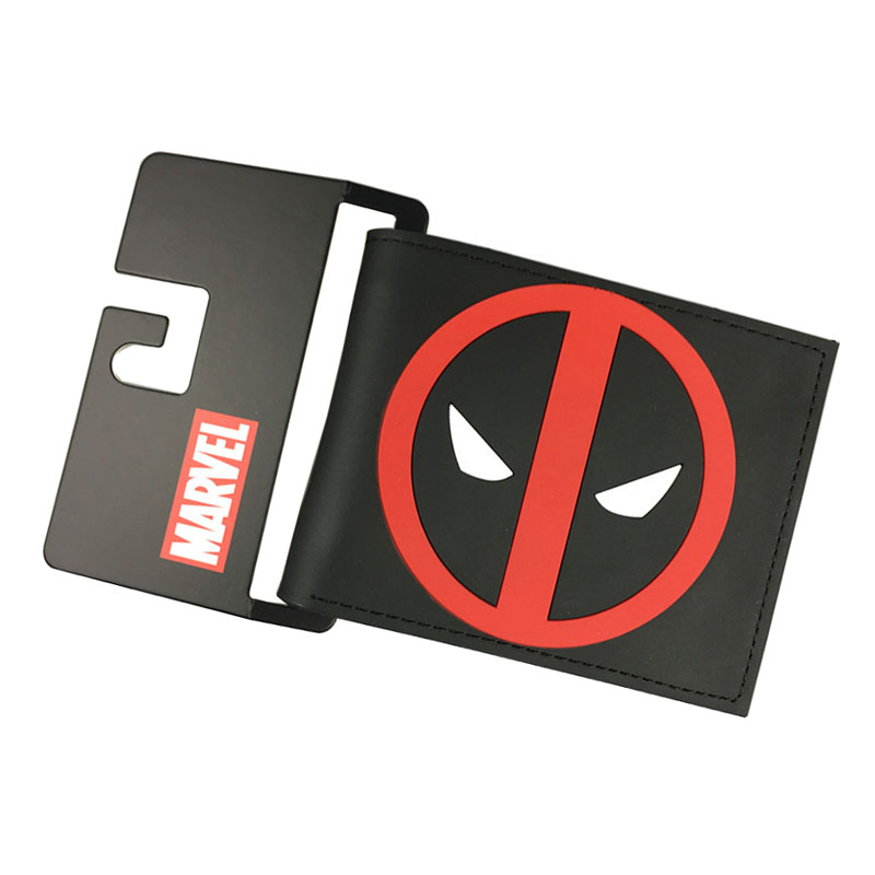 New Arrival Deadpool Wallets Anime Movie Super Heroes Purse Dollar Price Card Money Bags carteira Gift Folded PVC Short Wallet dc movie hero bat man anime men wallets dollar price short feminino coin purse money photo balsos card holder for boy girl gift