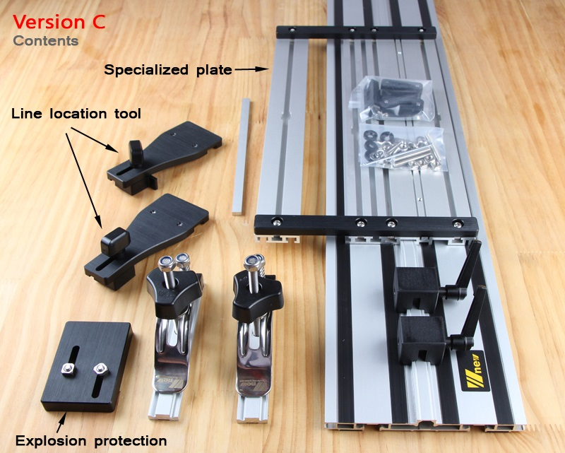 Double deck Electrotrephine Carving Machine Straight Guide Rail With Adjustable Saw Base