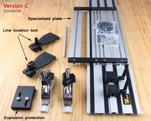 Double-deck Electrotrephine Carving Machine Straight Guide Rail With Adjustable Saw Base