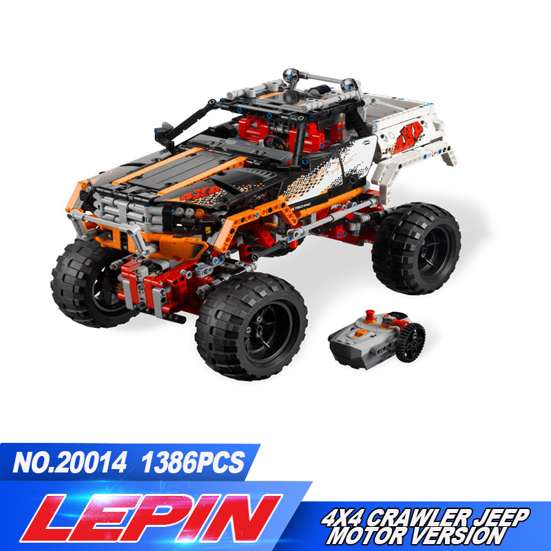 Lepin 20014 Technic Series Ultimate Version The Remote-Control Four-Wheel Drive Off-road Vehicles Blocks Educational Toys 9398 starpad for xinyuan off road motorcycle accessories x2 x2x off road vehicles after the fender white