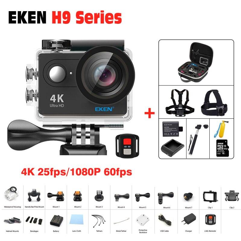 Originale EKEN H9/macchina fotografica di Azione H9R Ultra HD 4 K/25fps WiFi 2.0