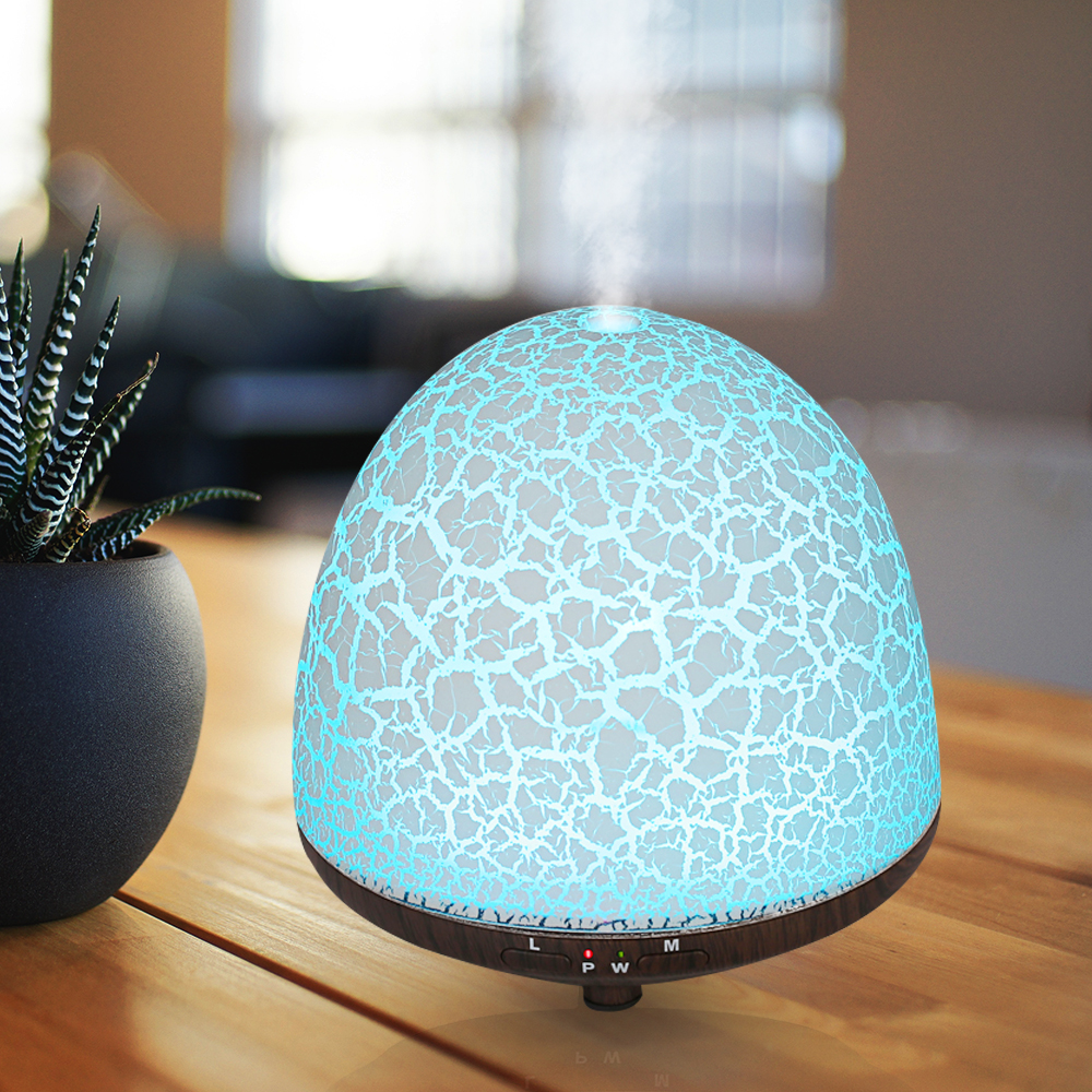 Lines 12W Aromatherapy Air Humidifier Ultrasonic 6 LED Night Colorful Lights Mist Maker Aroma Diffuser Aromatherapy Oils 1710