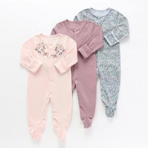 Image 3 - Baby Girl Romper Newborn Sleepsuit Flower Baby Rompers Infant Baby Clothes Long Sleeve Newborn Jumpsuits Baby Boy Pajamas