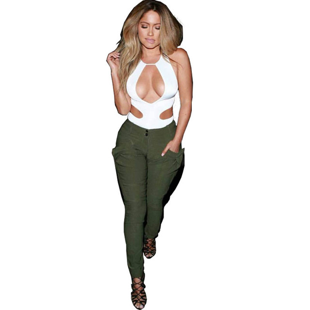 Sexy Club Blouse Fashion 2 piece Women Summer Pant sets-in Women s ... 1883899fe7