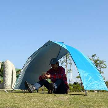 Lightweight Portable Sun Shelter Beach Tent Summer Outdoor Garden Sun Awning Sun Shade Canopy Easy Setup Camping Fishing Hiking 3