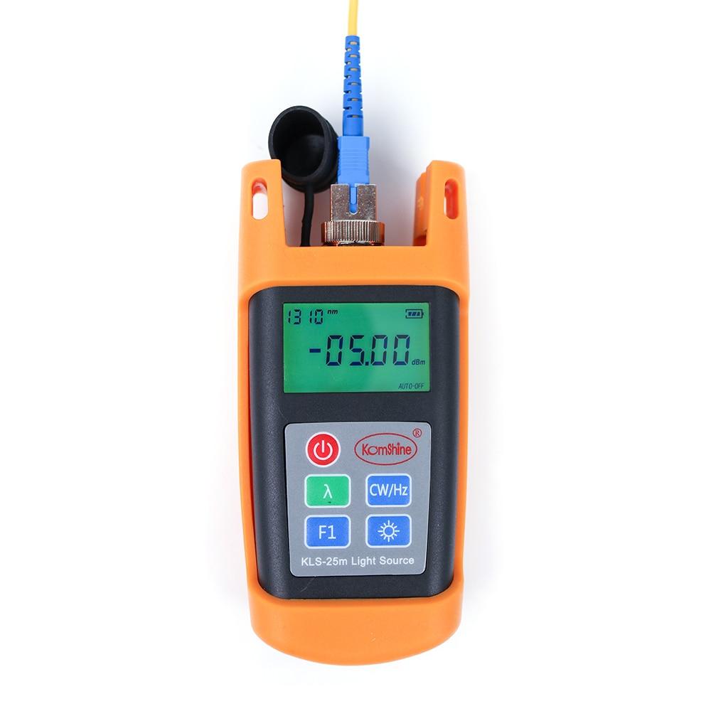 Handheld 1310 1550nm Singlemode Optical Laser Source Komshine KLS 25M S Fiber Optic Light Source with