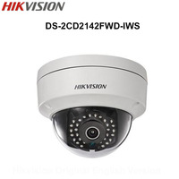 In Stock Hikvision English 4MP Mini Dome Wifi IP Camera DS 2CD2142FWD IWS 4MP CCTV Camera