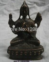 China's Tibet old bronze sculpture Buddha statue Small Tsongkhapa Copper statue|statue head|statue of liberty clock|statue horse - title=