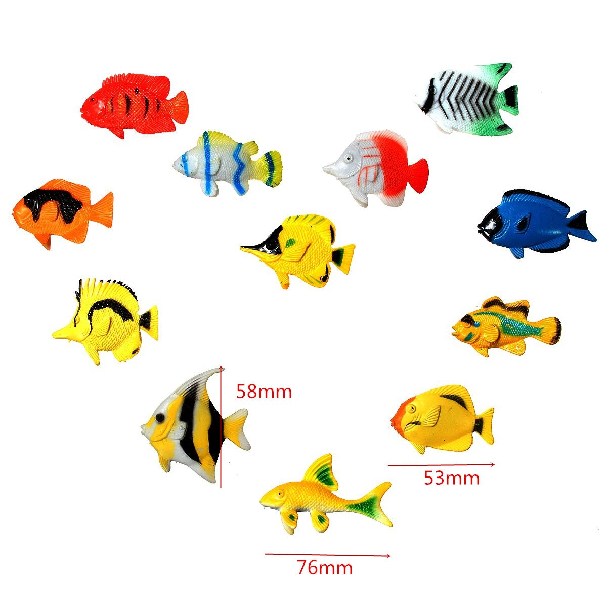 10 pcs Assorted Ocean Pet Figures Toy Gift Sea Life Model PVC Pool Fish Toy NEZY