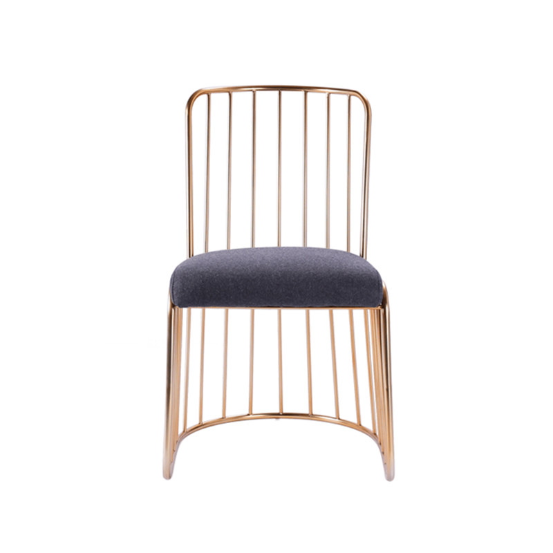 Astonishing Us 85 33 20 Off Simple Modern Golden Wrought Iron Dining Chair Lounge Chair Restaurant Cafe Bar Stool In Dining Chairs From Furniture On Aliexpress Camellatalisay Diy Chair Ideas Camellatalisaycom