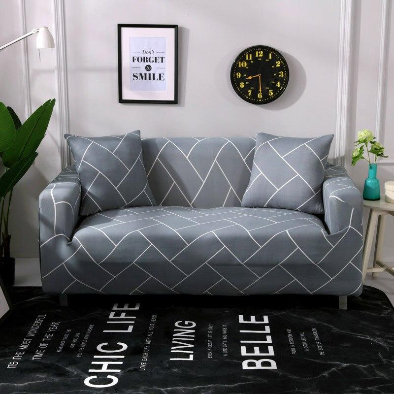 A strisce stampato divano copre per soggiorno moderno a tre posti divano elastico fodere di una grande flessibilità di copridivano