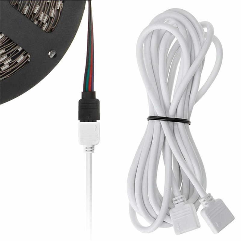 4 PIN RGB светодио дный разъем удлинитель шнура провода + 4pin светодио дный разъемы провода 1 м 2,5 м 5 м 30 см для SMD 5050 3528 RGB Светодиодные ленты свет