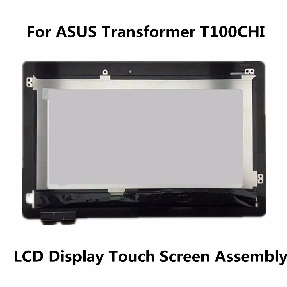 Original 10.1'' For ASUS Transformer Book T100Chi Tablet LCD Display Panel Touch Screen Digitizer Glass Assembly Replacement black full lcd display touch screen digitizer replacement for asus transformer book t100h free shipping